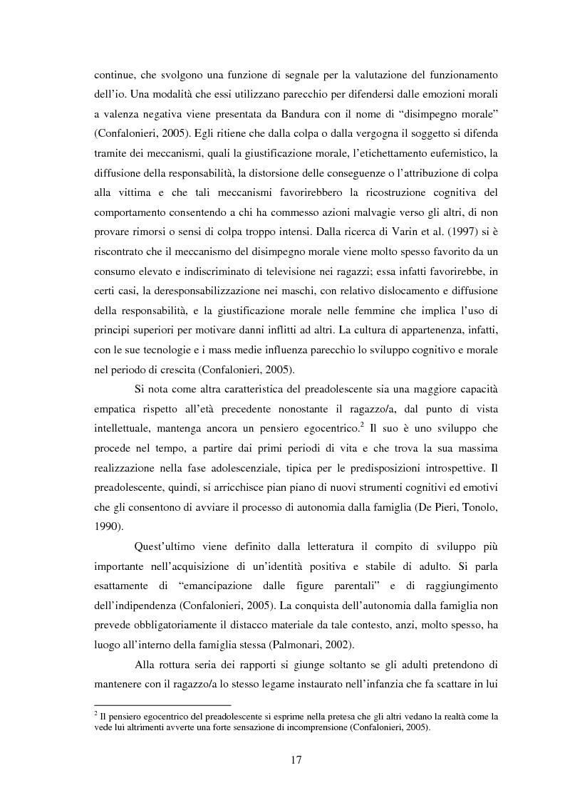 Anteprima della tesi: Modelli identificativi proposti in TV e autopresentazione in preadolescenza, Pagina 13