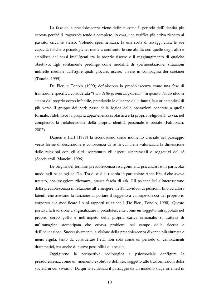 Anteprima della tesi: Modelli identificativi proposti in TV e autopresentazione in preadolescenza, Pagina 6