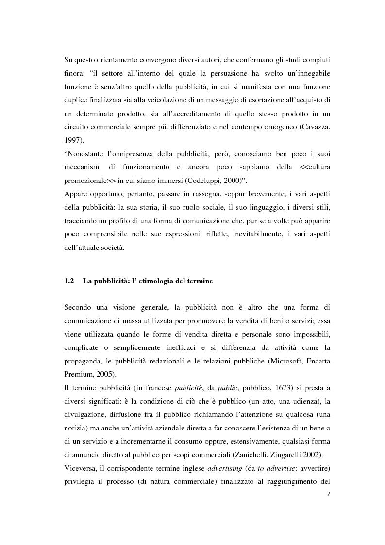 Anteprima della tesi: Le leve del cambiamento mentale nella pubblicità televisiva, Pagina 4