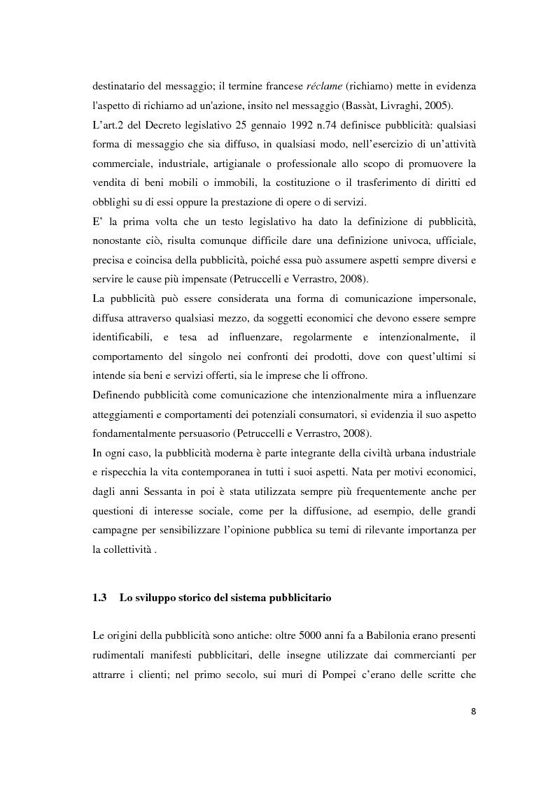 Anteprima della tesi: Le leve del cambiamento mentale nella pubblicità televisiva, Pagina 5
