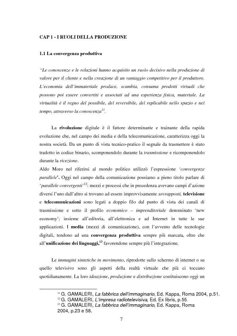 Anteprima della tesi: Le professioni del cinema e dello spettacolo nella civiltà dell'immateriale, Pagina 5