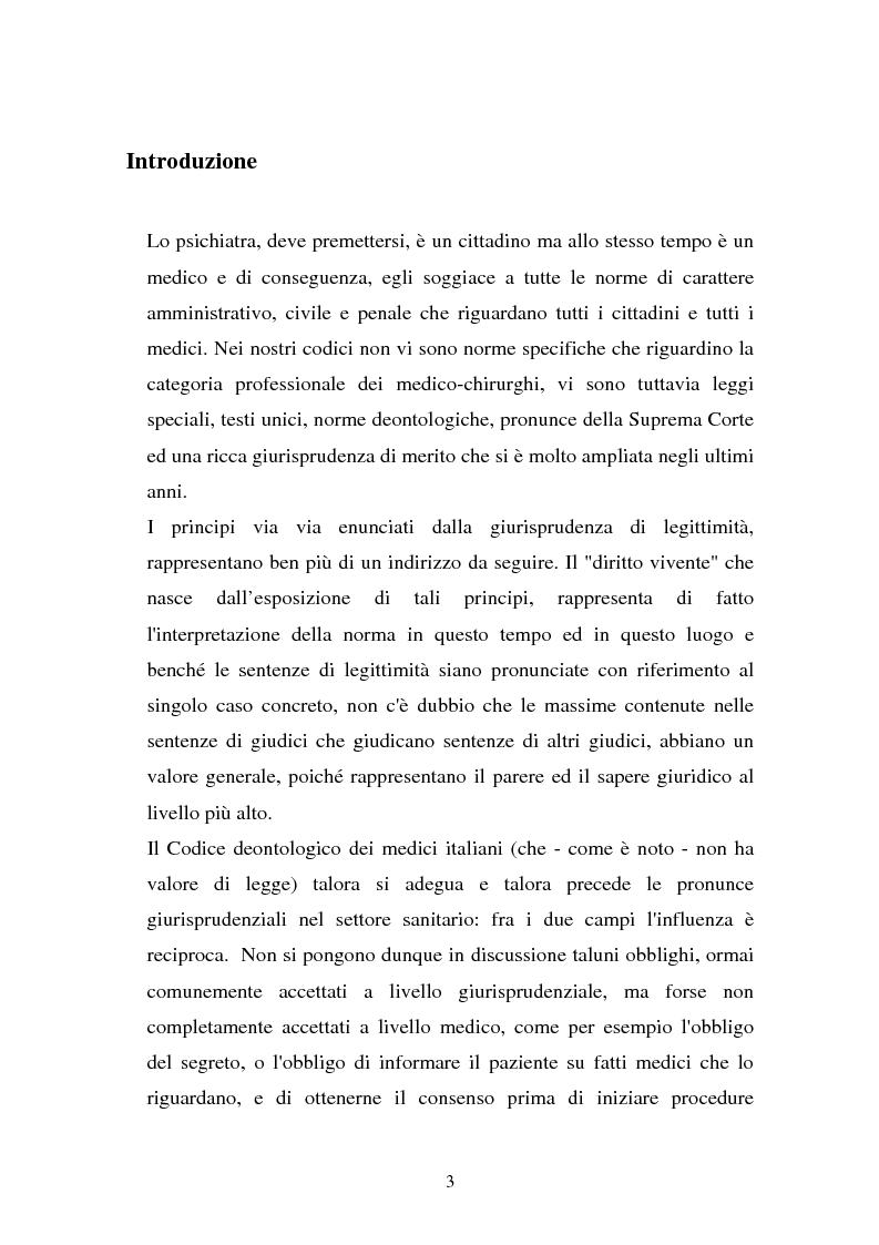 Anteprima della tesi: La responsabilità penale dello psichiatra: profili problematici e prospettive di riforma, Pagina 1