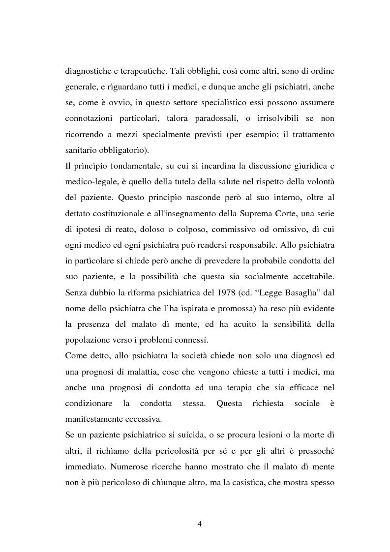 Anteprima della tesi: La responsabilità penale dello psichiatra: profili problematici e prospettive di riforma, Pagina 2