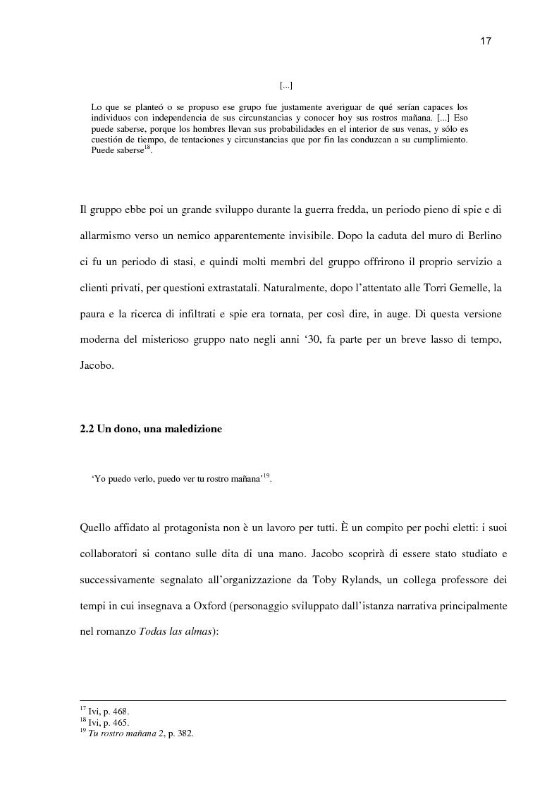 Anteprima della tesi: ''Tu rostro mañana'' di Javier Marías: la violenza dello sguardo, Pagina 12