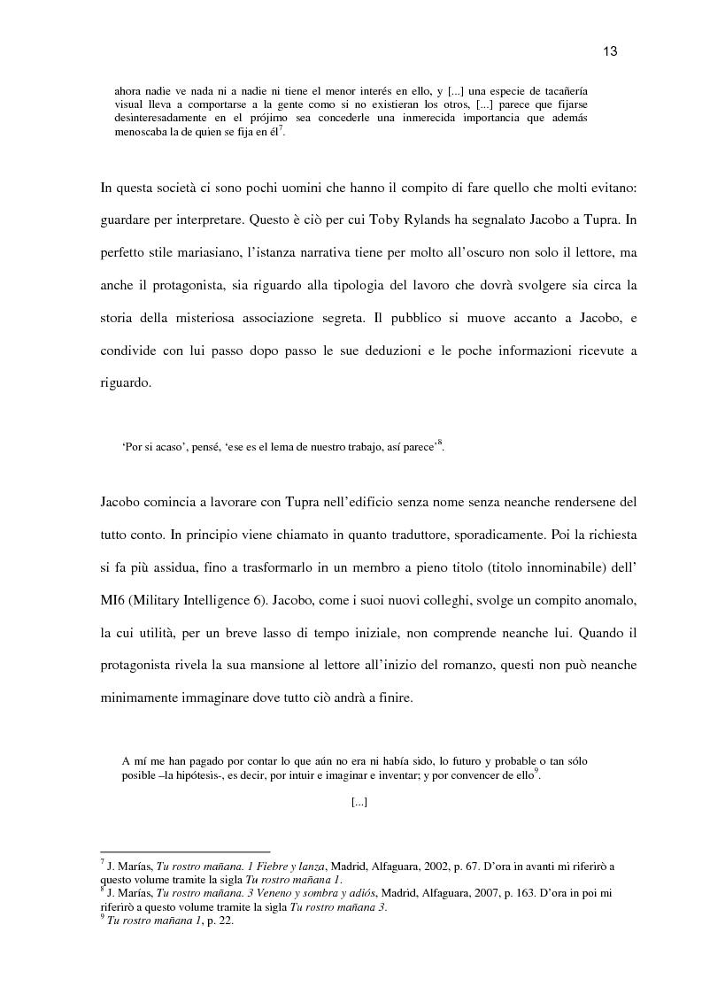Anteprima della tesi: ''Tu rostro mañana'' di Javier Marías: la violenza dello sguardo, Pagina 8