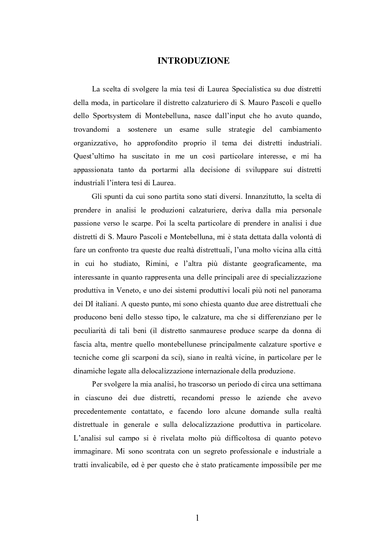 I distretti industriali della moda tra localismo e outsourcing: i casi dei distretti della calzatura di S. Mauro Pascoli...