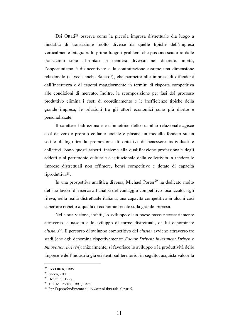 Anteprima della tesi: I distretti industriali della moda tra localismo e outsourcing: i casi dei distretti della calzatura di S. Mauro Pascoli e dello Sportsystem di Montebelluna, Pagina 11