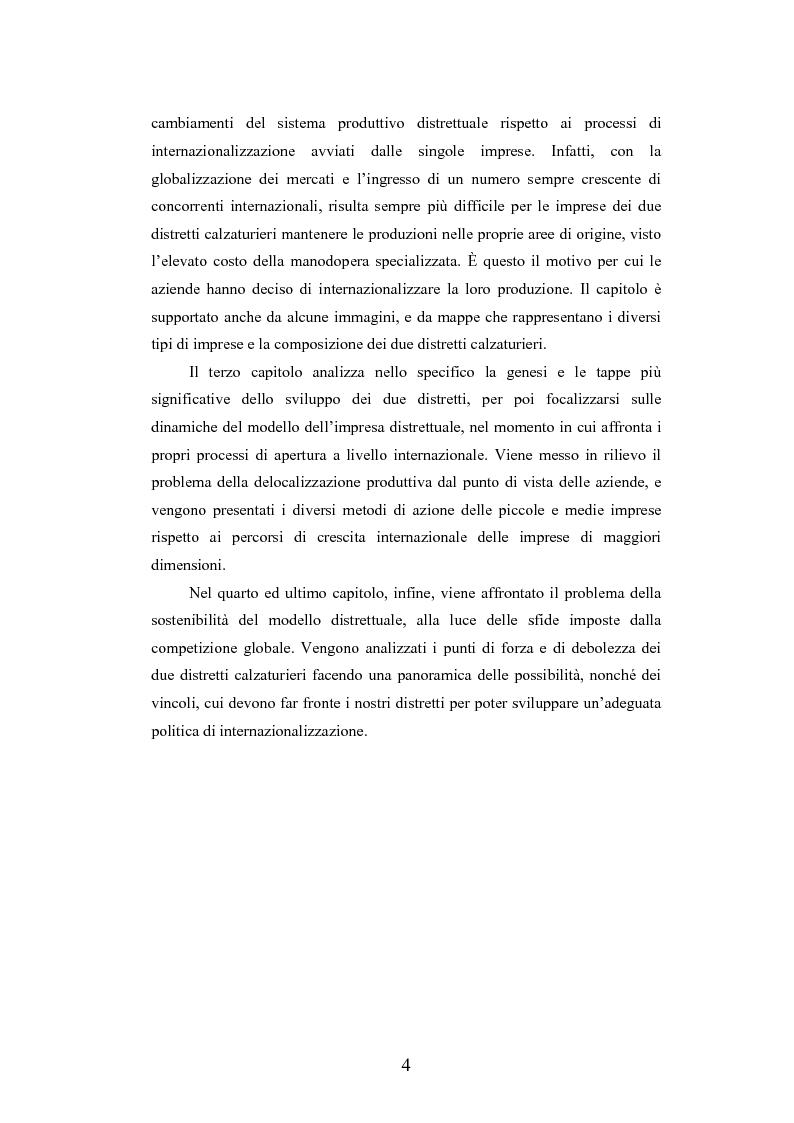 Anteprima della tesi: I distretti industriali della moda tra localismo e outsourcing: i casi dei distretti della calzatura di S. Mauro Pascoli e dello Sportsystem di Montebelluna, Pagina 4