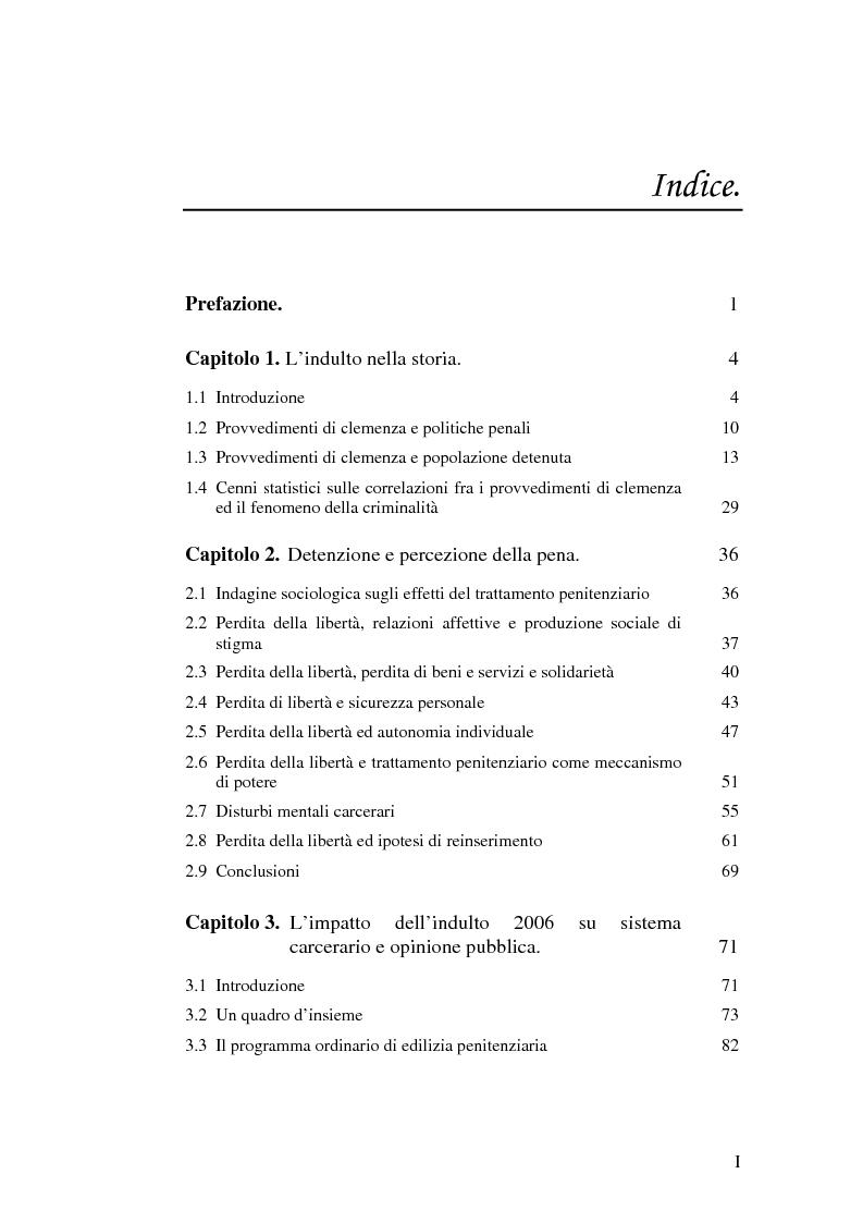 Indice della tesi: La recidiva post-indulto: aspetti psichiatrico-forensi, Pagina 1