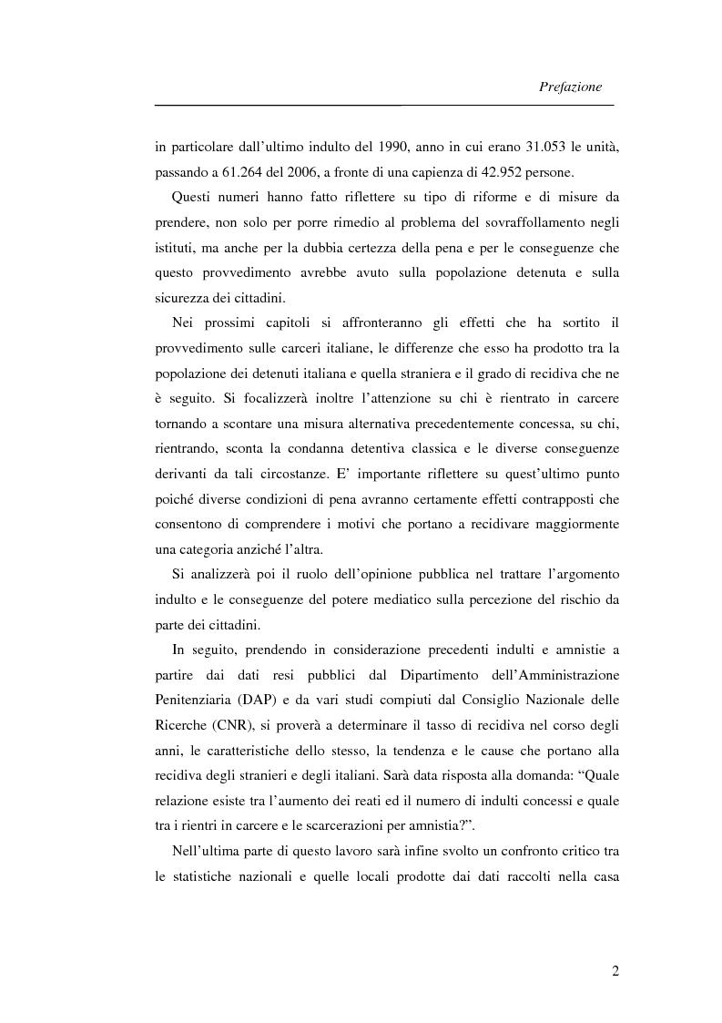 Anteprima della tesi: La recidiva post-indulto: aspetti psichiatrico-forensi, Pagina 2