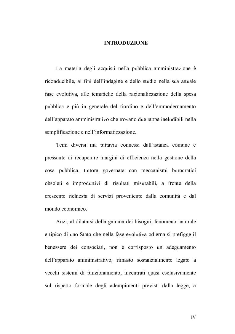 Anteprima della tesi: La disciplina degli acquisti nella pubblica amministrazione: dal Provveditorato generale dello Stato al Modello Consip., Pagina 1