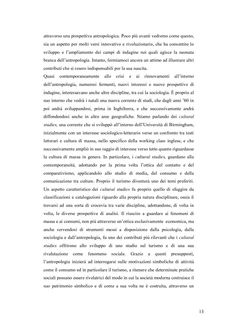 Anteprima della tesi: Tra antropologia e turismo. Viaggio verso nuove forme di autenticità., Pagina 10