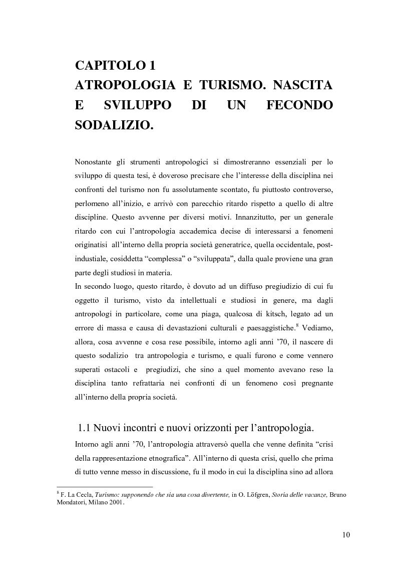Anteprima della tesi: Tra antropologia e turismo. Viaggio verso nuove forme di autenticità., Pagina 7