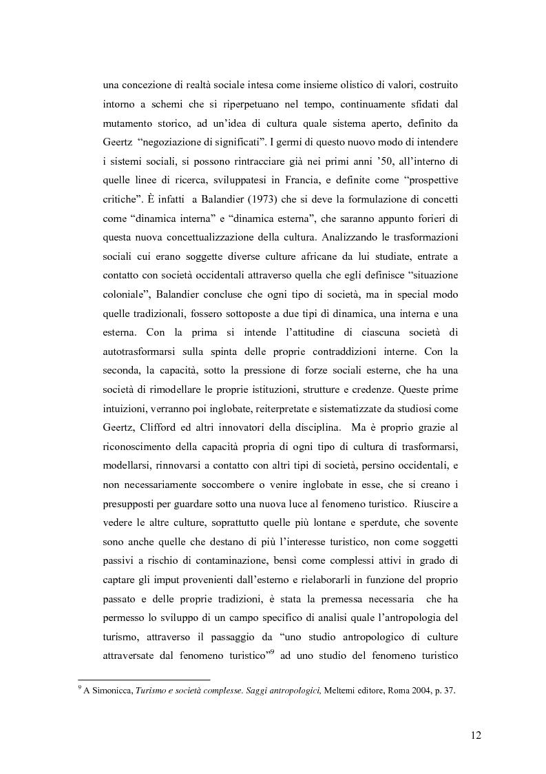 Anteprima della tesi: Tra antropologia e turismo. Viaggio verso nuove forme di autenticità., Pagina 9