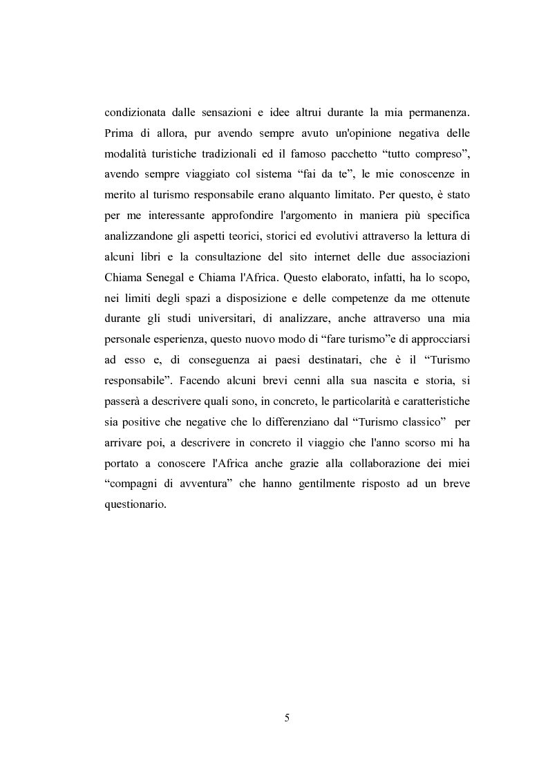 Anteprima della tesi: Un caso particolare di turismo responsabile in Senegal, Pagina 2