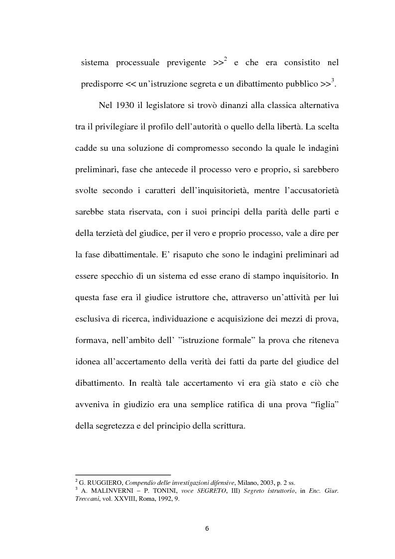 Anteprima della tesi: Il principio di parità tra accusa e difesa. Il diritto di difendersi dopo la legge 397/2000, Pagina 2
