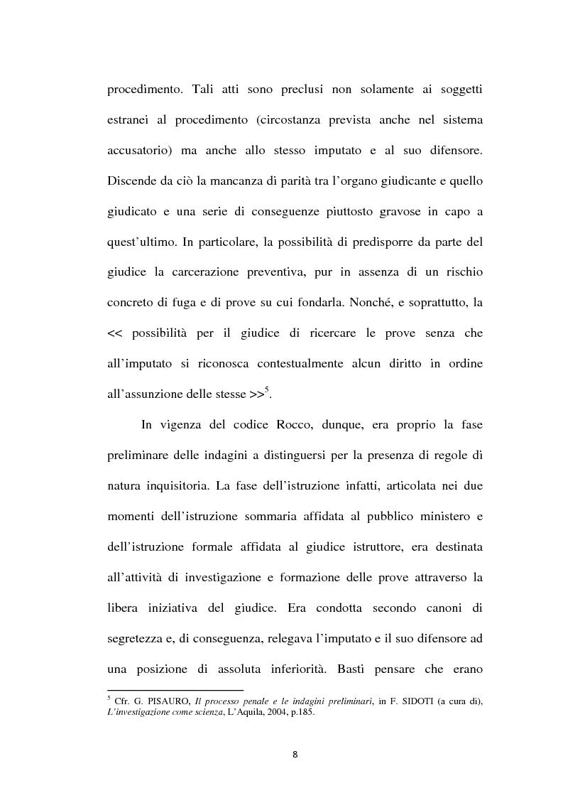 Anteprima della tesi: Il principio di parità tra accusa e difesa. Il diritto di difendersi dopo la legge 397/2000, Pagina 4