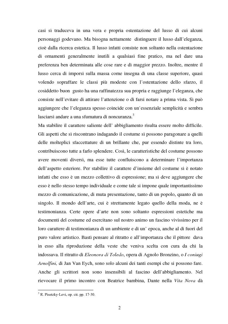 Anteprima della tesi: Espressioni della moda: dall'affermazione del Made in Italy all'antimoda, Pagina 2