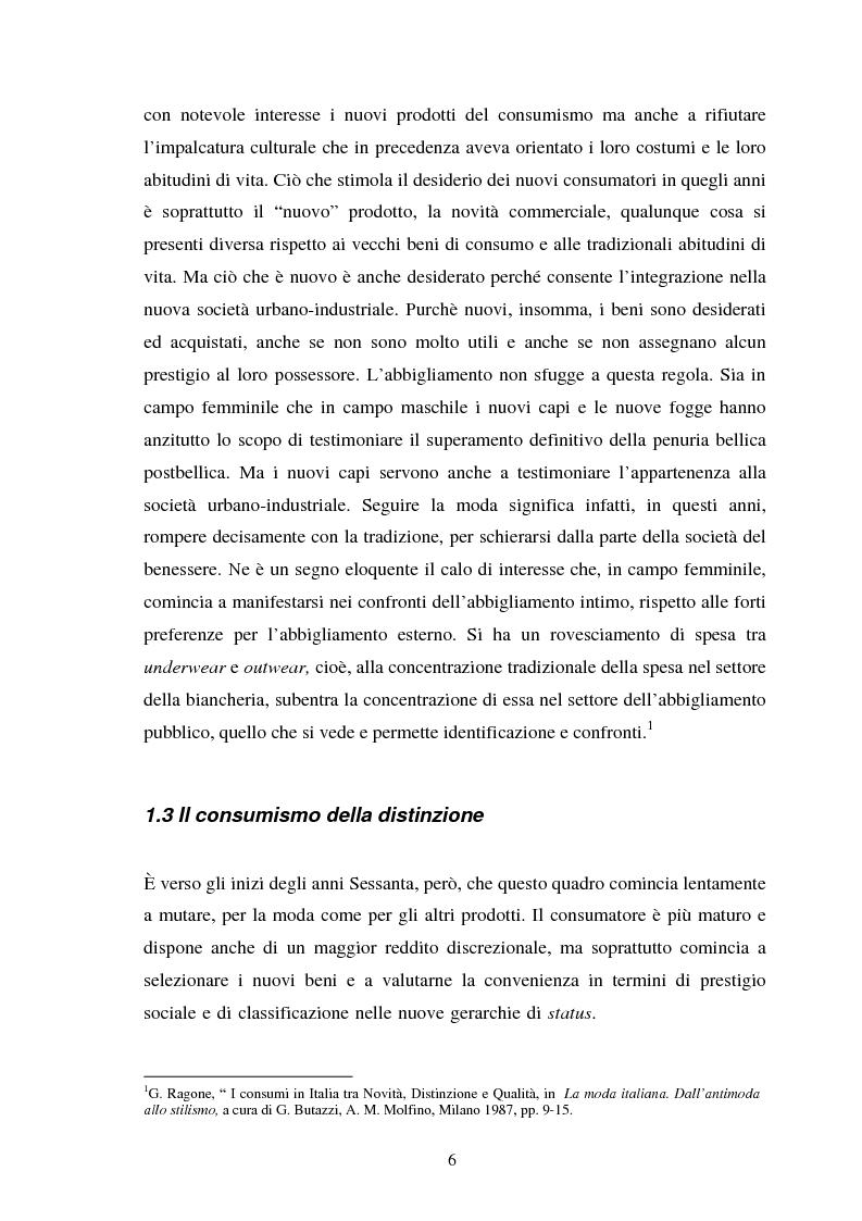 Anteprima della tesi: Espressioni della moda: dall'affermazione del Made in Italy all'antimoda, Pagina 6