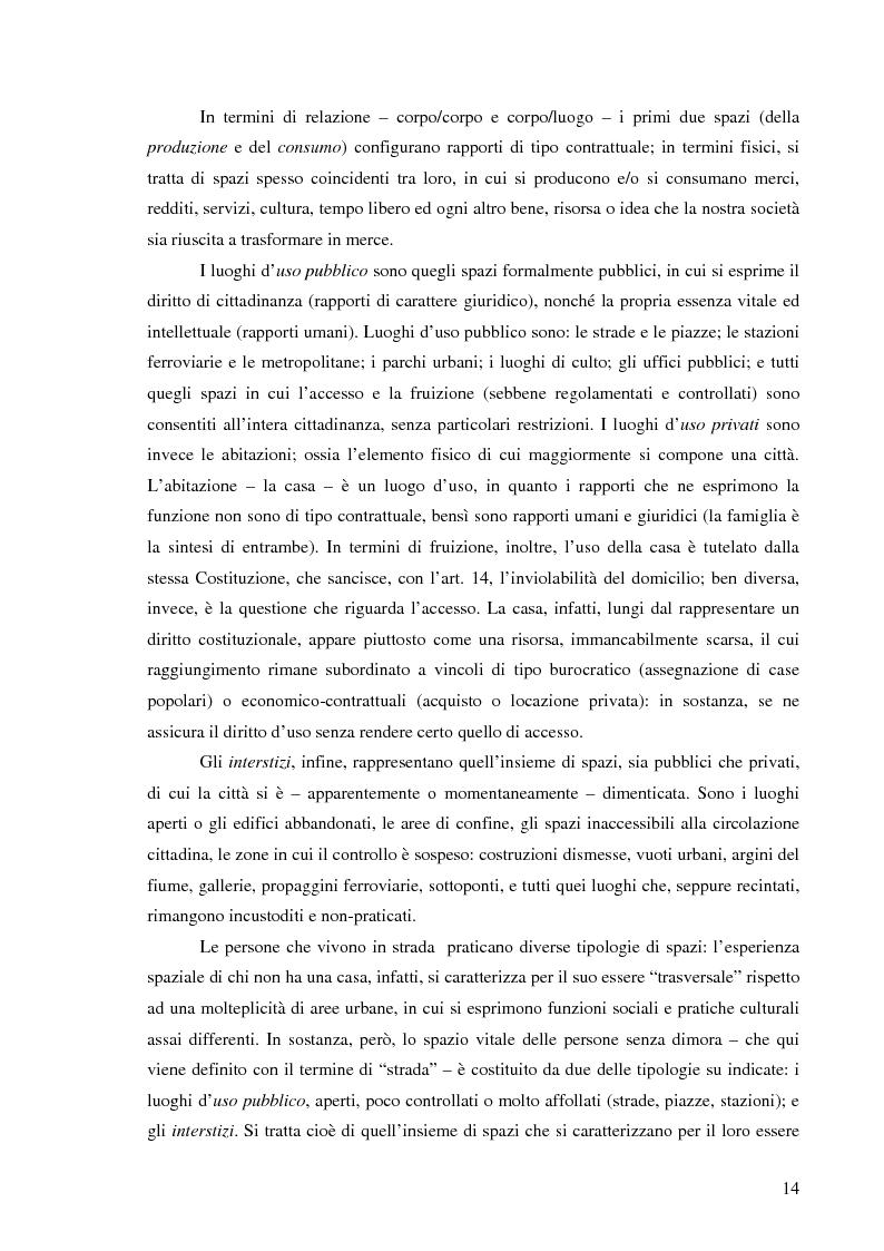 Anteprima della tesi: Vita di strada e cultura della precarietà, Pagina 12