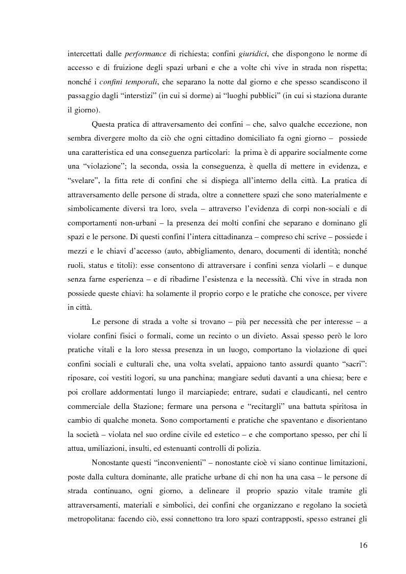 Anteprima della tesi: Vita di strada e cultura della precarietà, Pagina 14