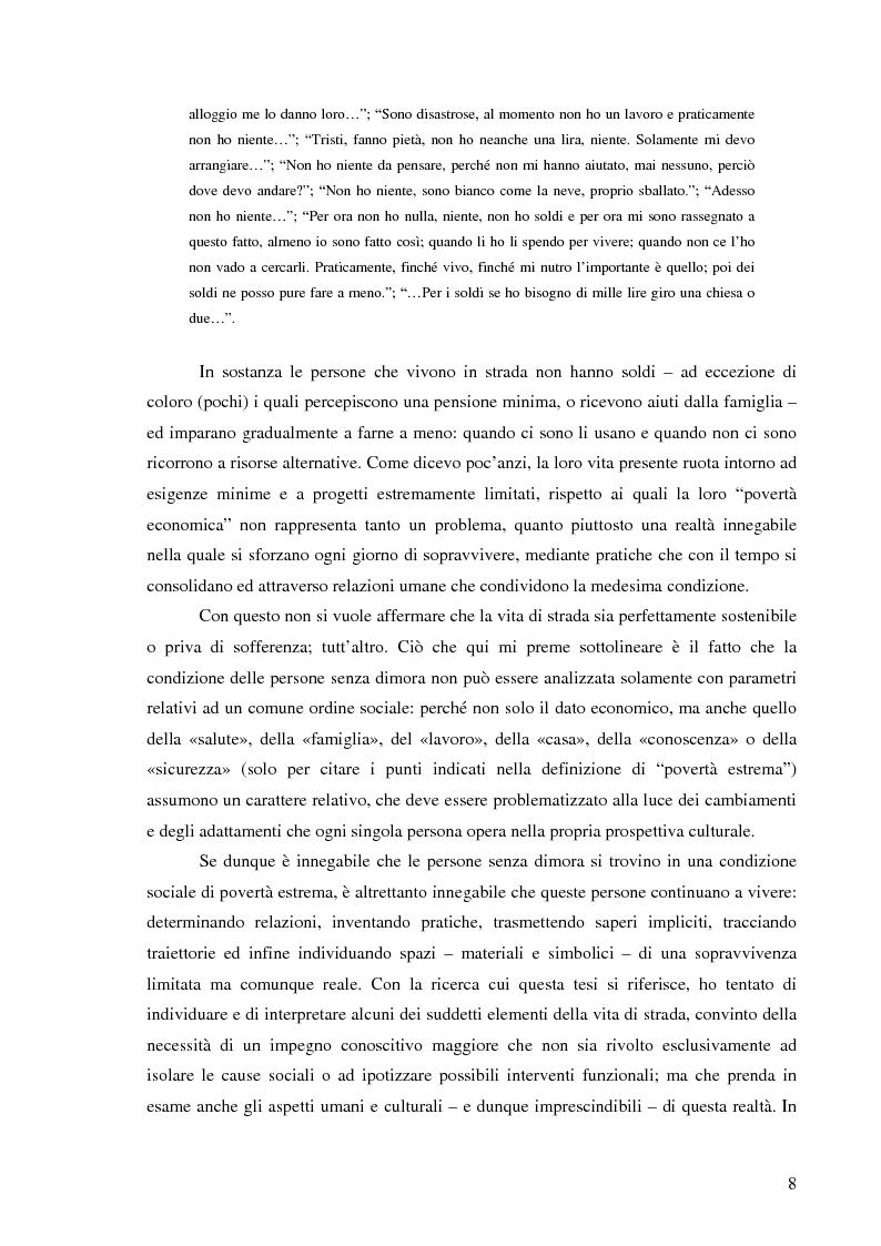 Anteprima della tesi: Vita di strada e cultura della precarietà, Pagina 6