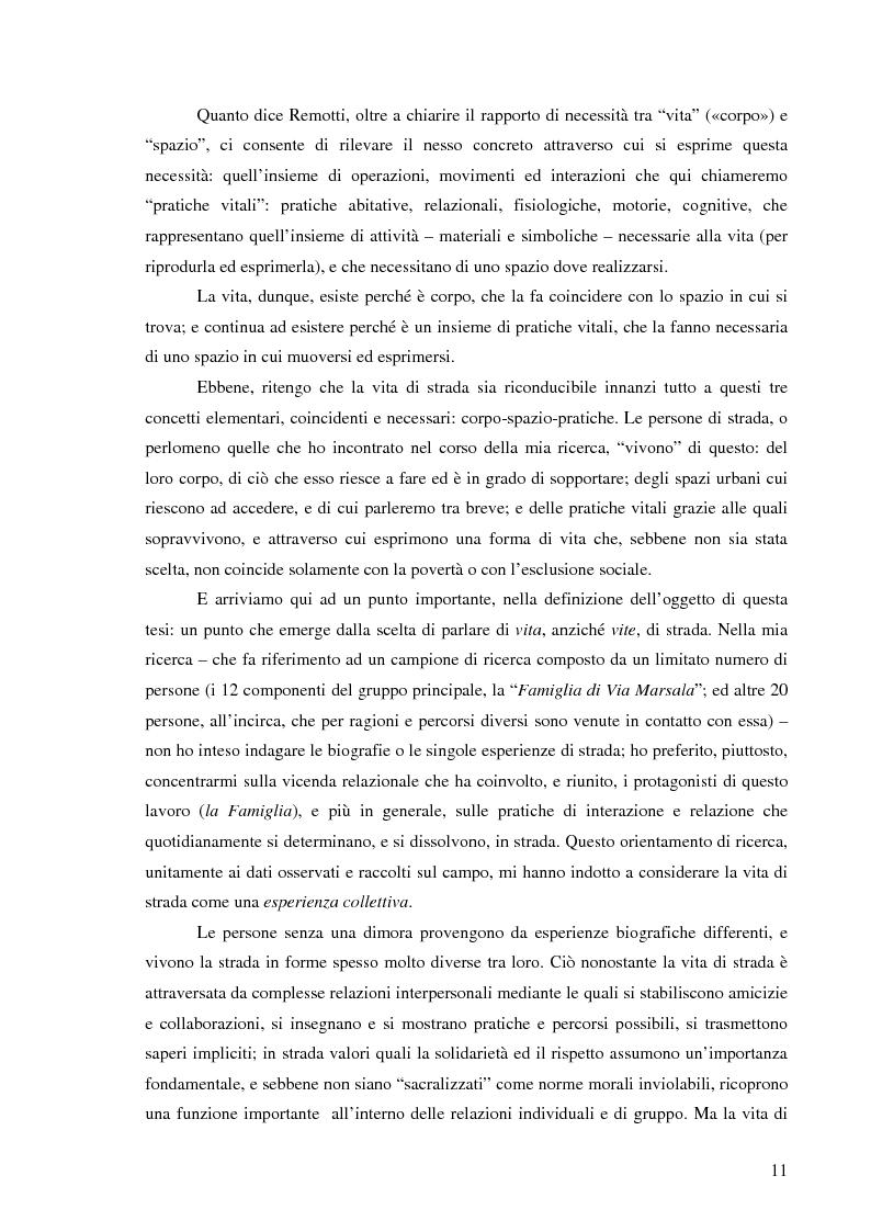 Anteprima della tesi: Vita di strada e cultura della precarietà, Pagina 9