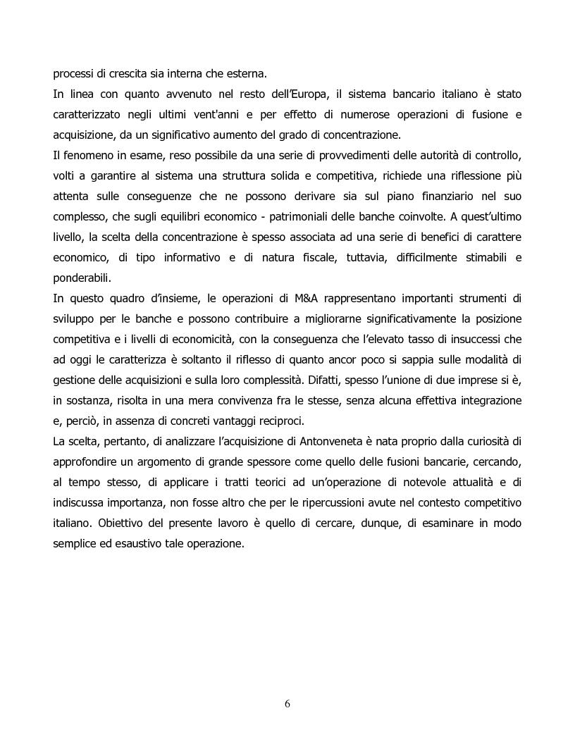 Anteprima della tesi: Il processo di concentrazione bancaria in Italia. Il caso Antonveneta, Pagina 2