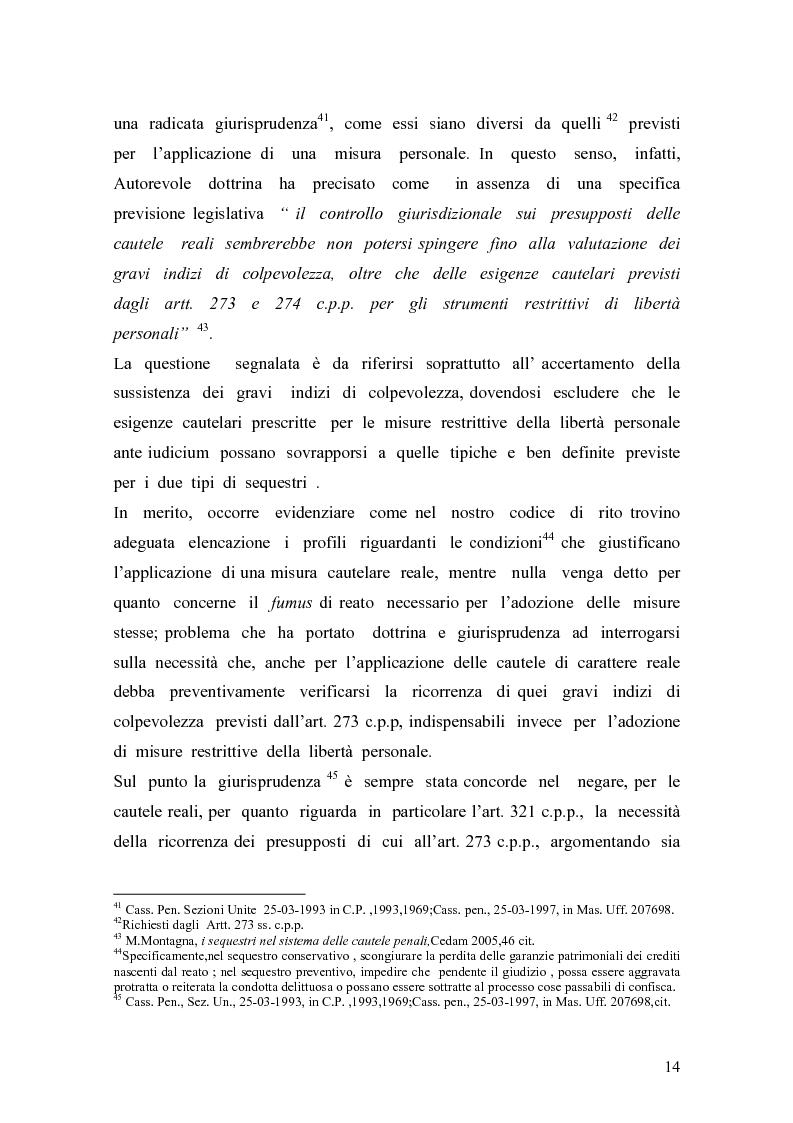 Anteprima della tesi: Sequestro preventivo e confisca per equivalente, Pagina 11