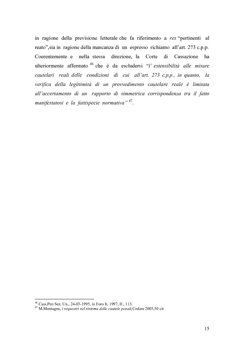 Anteprima della tesi: Sequestro preventivo e confisca per equivalente, Pagina 12