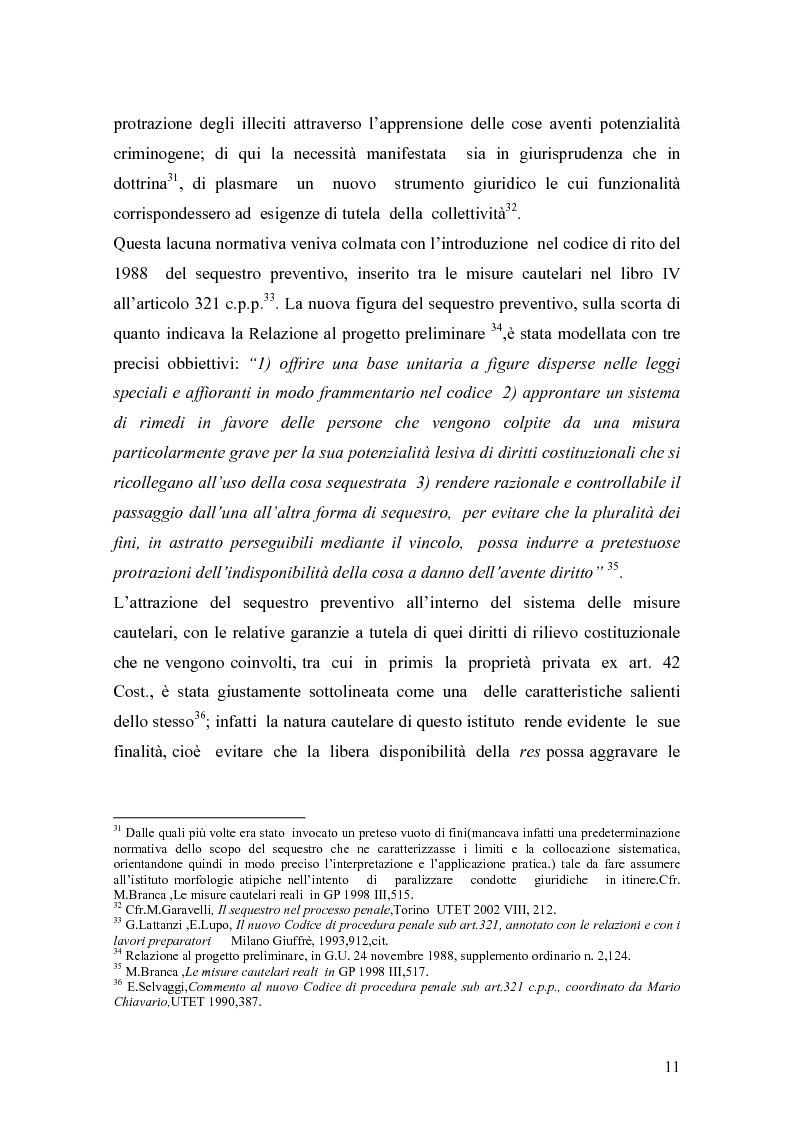 Anteprima della tesi: Sequestro preventivo e confisca per equivalente, Pagina 8