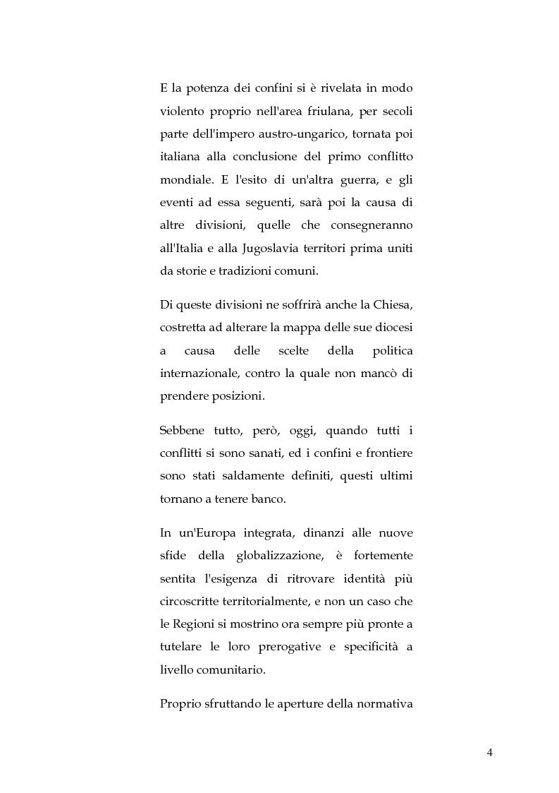 Anteprima della tesi: Le circoscrizioni ecclesiastiche e le circoscrizioni civili alla luce della normativa UE: il caso del Friuli Venezia Giulia, Pagina 3