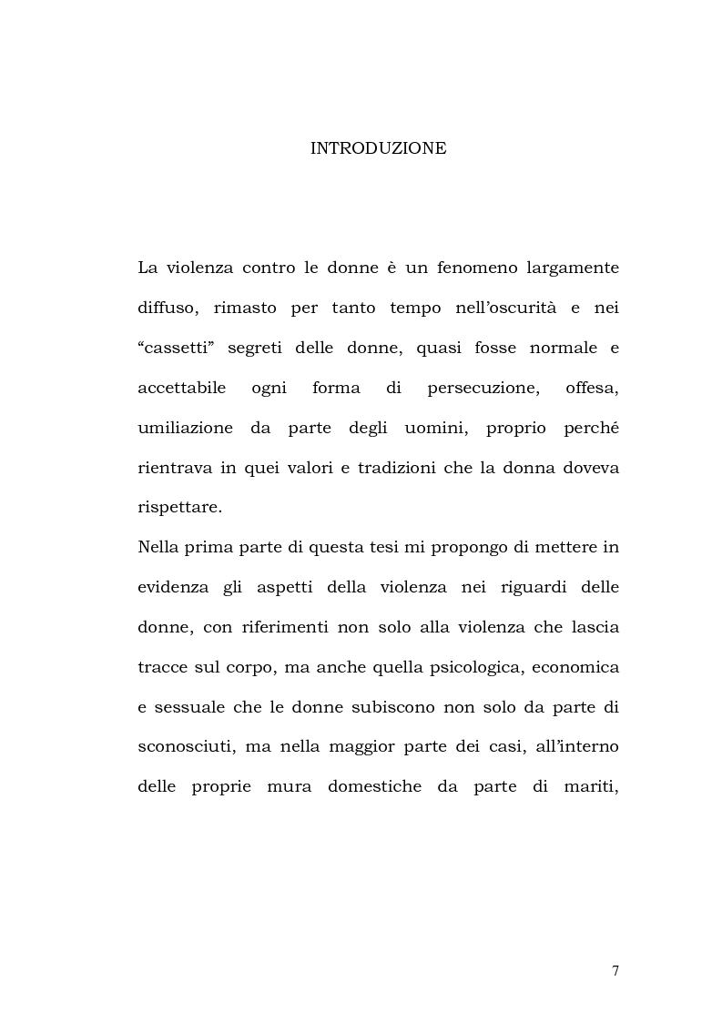 Anteprima della tesi: La violenza contro le donne: i centri antiviolenza e gli orientamenti pedagogici, Pagina 1