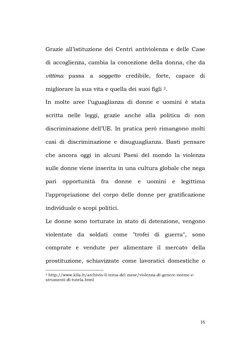 Anteprima della tesi: La violenza contro le donne: i centri antiviolenza e gli orientamenti pedagogici, Pagina 10
