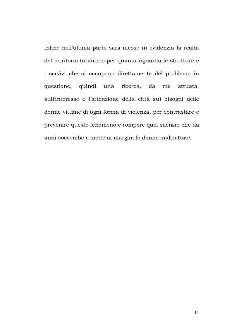 Anteprima della tesi: La violenza contro le donne: i centri antiviolenza e gli orientamenti pedagogici, Pagina 5