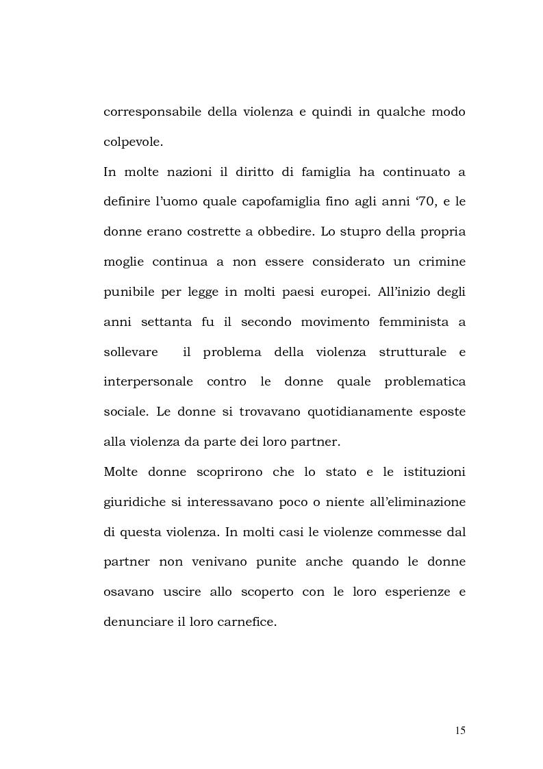 Anteprima della tesi: La violenza contro le donne: i centri antiviolenza e gli orientamenti pedagogici, Pagina 9