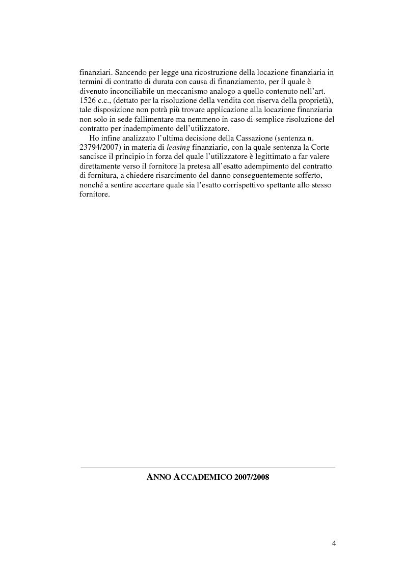 Anteprima della tesi: Il leasing finanziario traslativo, Pagina 3