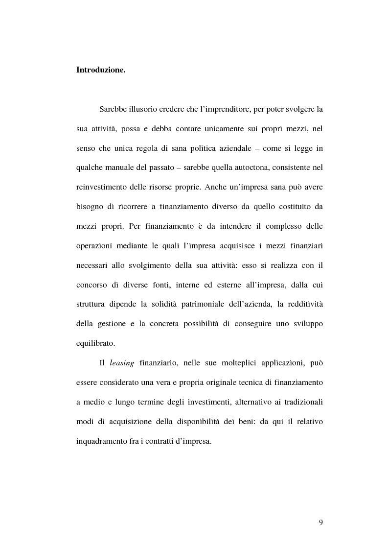Anteprima della tesi: Il leasing finanziario traslativo, Pagina 4