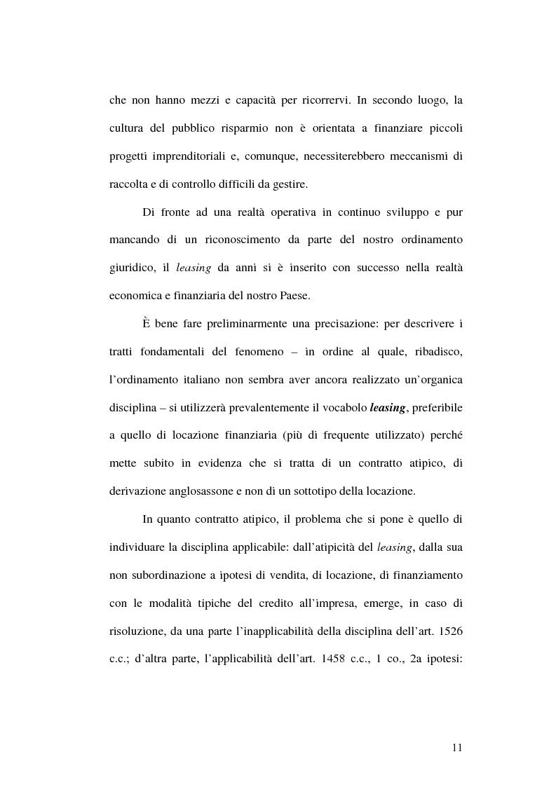 Anteprima della tesi: Il leasing finanziario traslativo, Pagina 6