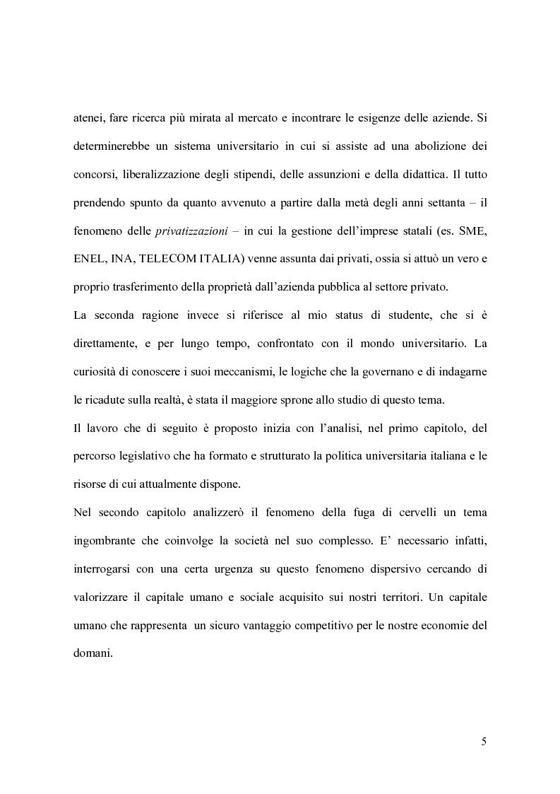 Anteprima della tesi: Il modello organizzativo dell'università italiana. Limiti, efficienza, produttività, Pagina 2