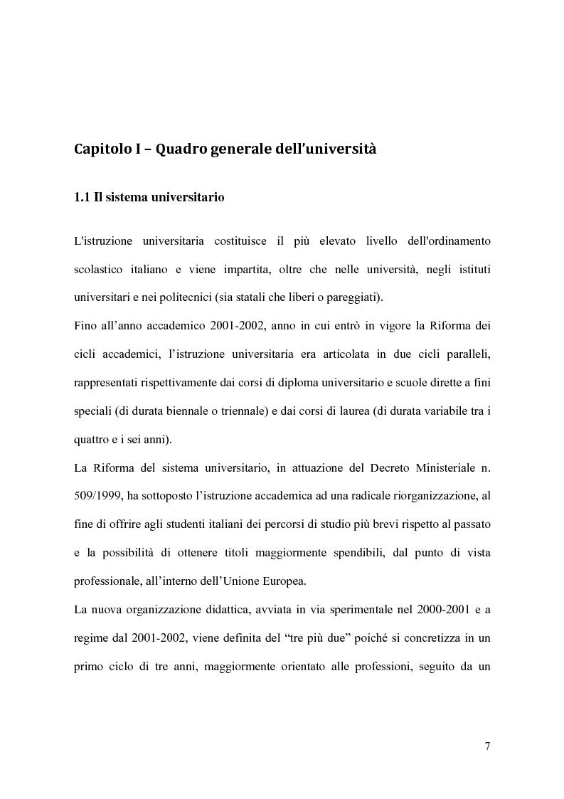 Anteprima della tesi: Il modello organizzativo dell'università italiana. Limiti, efficienza, produttività, Pagina 4