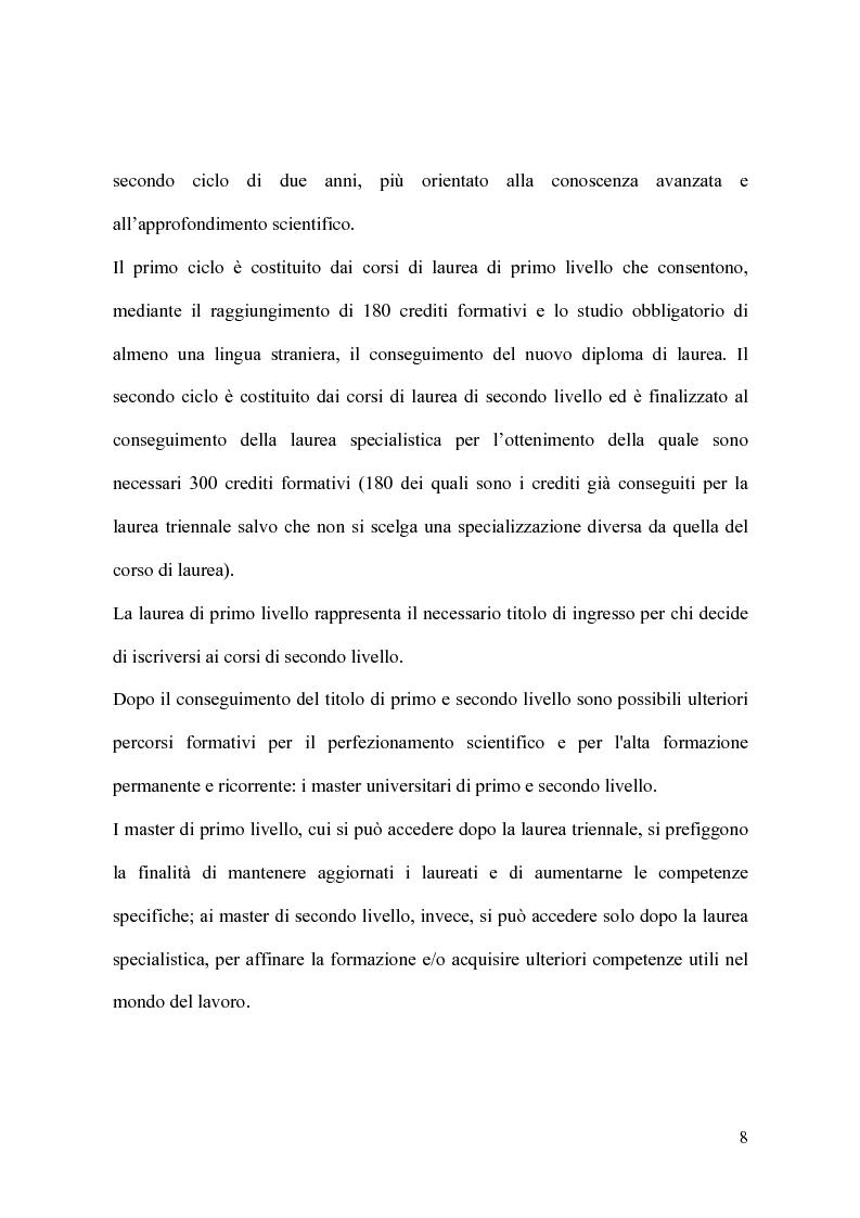 Anteprima della tesi: Il modello organizzativo dell'università italiana. Limiti, efficienza, produttività, Pagina 5