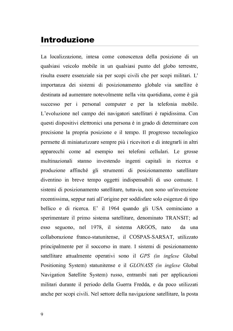 """Anteprima della tesi: Sviluppo di un modello software """"transaction level"""" per il banco di correlatori di un ricevitore Galileo, Pagina 1"""
