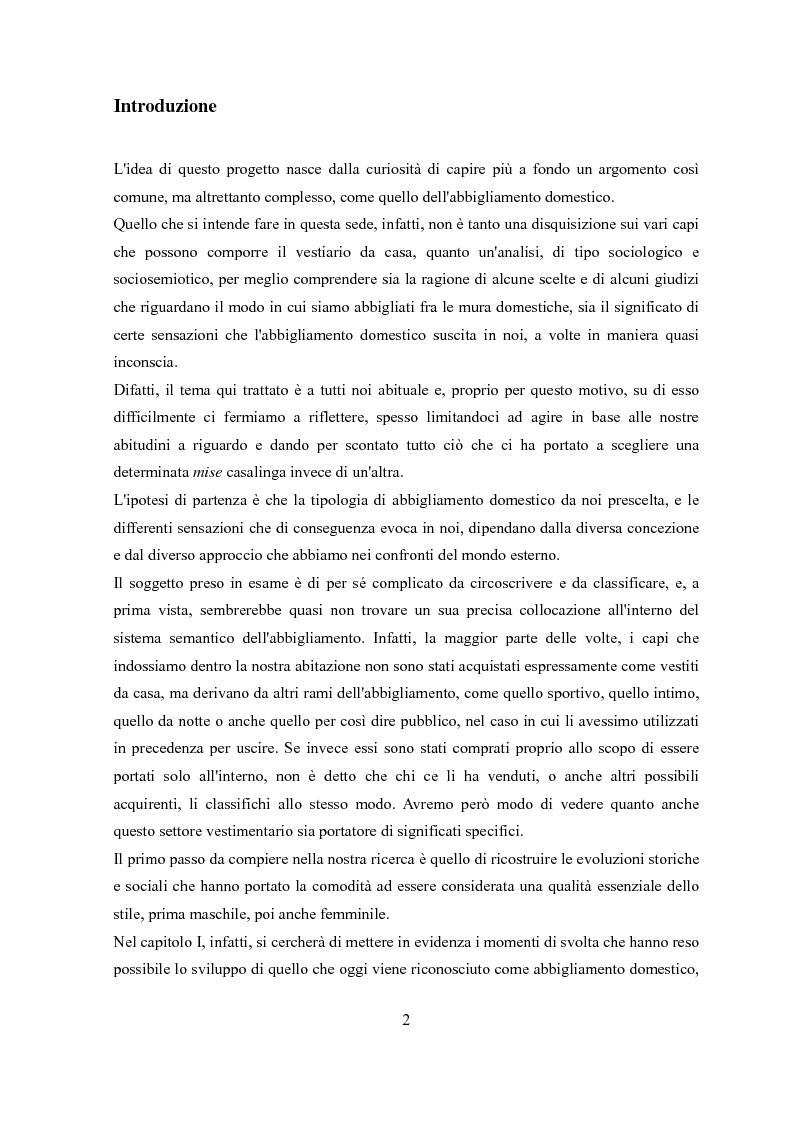Anteprima della tesi: Déshabillé. Un'indagine sociosemiotica sull'abbigliamento domestico contemporaneo, Pagina 1