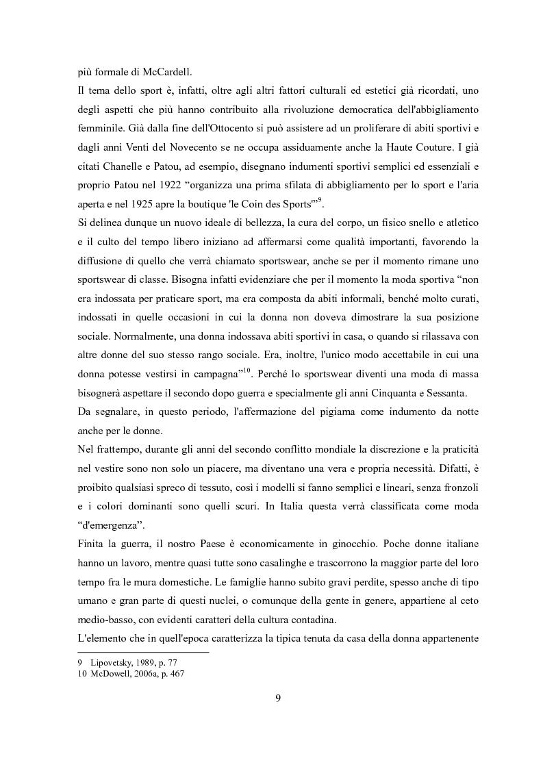 Anteprima della tesi: Déshabillé. Un'indagine sociosemiotica sull'abbigliamento domestico contemporaneo, Pagina 8