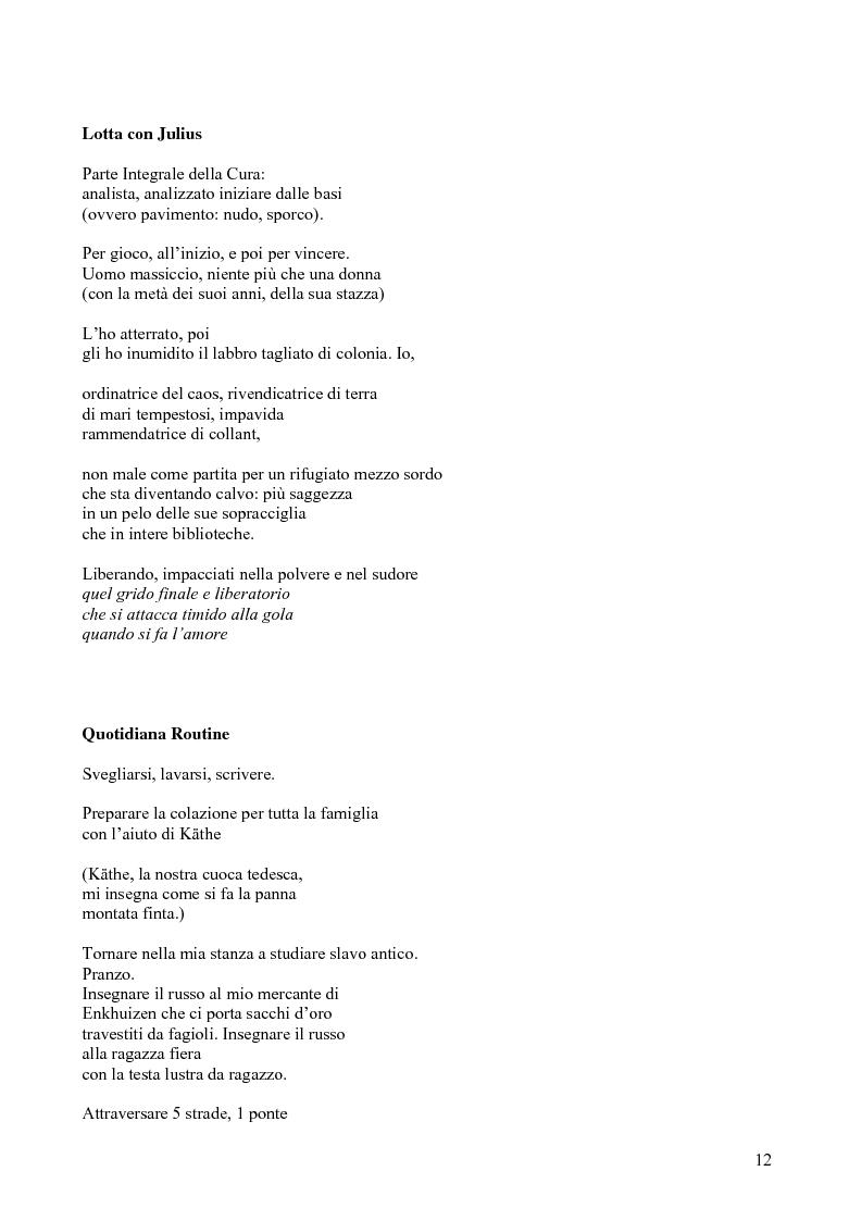 Anteprima della tesi: Janice Kulyk Keefer, Midnight Stroll: proposta di traduzione e commento, Pagina 12