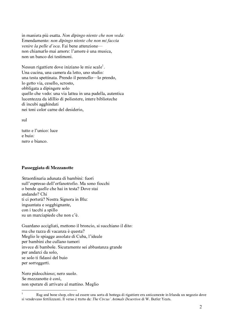 Anteprima della tesi: Janice Kulyk Keefer, Midnight Stroll: proposta di traduzione e commento, Pagina 2