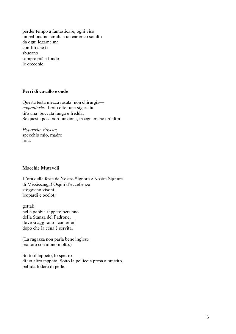 Anteprima della tesi: Janice Kulyk Keefer, Midnight Stroll: proposta di traduzione e commento, Pagina 3