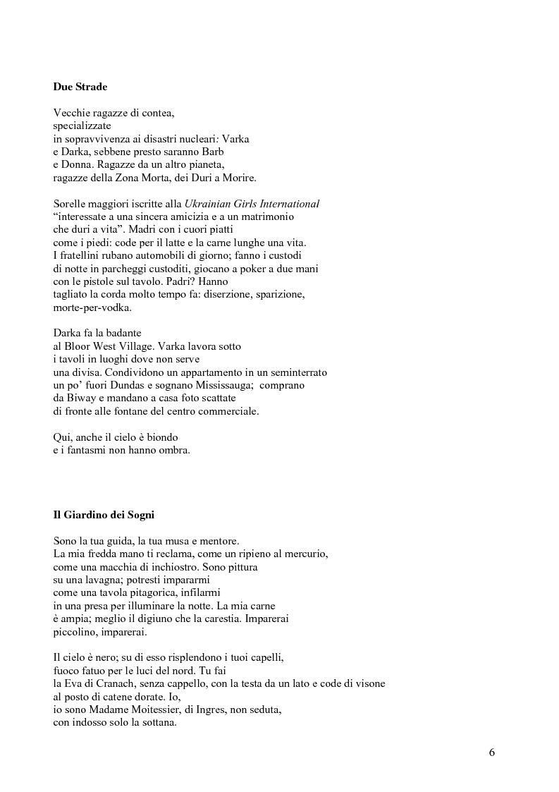 Anteprima della tesi: Janice Kulyk Keefer, Midnight Stroll: proposta di traduzione e commento, Pagina 6