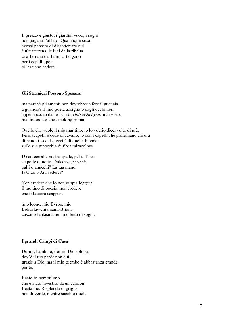 Anteprima della tesi: Janice Kulyk Keefer, Midnight Stroll: proposta di traduzione e commento, Pagina 7
